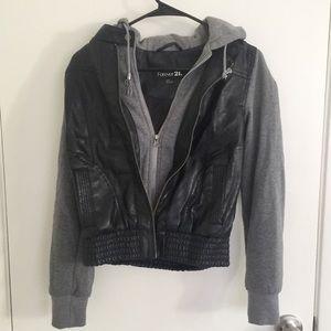 Leather Bomber Jacket | Forever 21